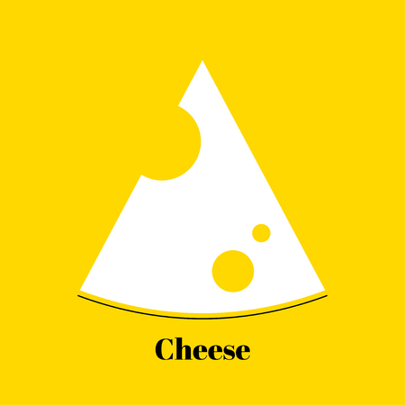 midsection: Triangular piece of yellow porous cheese food with holes