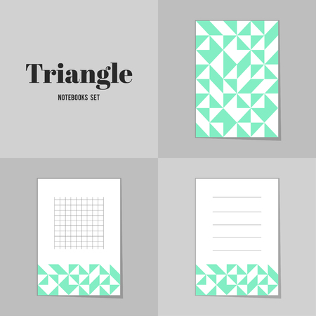 scores: Collection Rhombus and square shape notebooks, stickers, labels, tags. Template for scrapbooking, wrapping, notebooks Illustration
