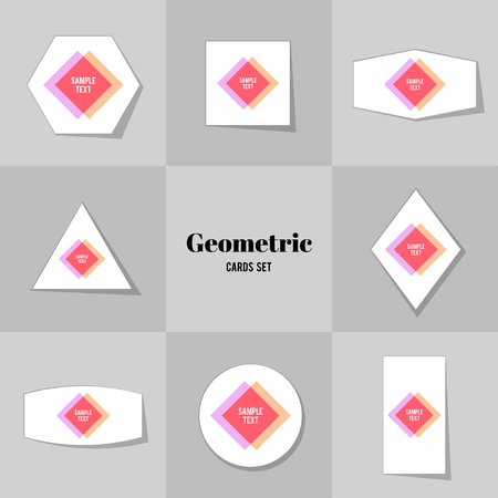 scores: Collection of Rhombus and square shape cards, notes, stickers, labels, tags. Template for scrapbooking, wrapping, notebooks