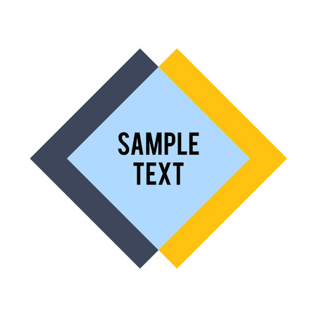 sample text: Rhombus and square shape with sample text. Abstract Rhombus Geometric Background. Modern Geometric. Rhombus Design Template