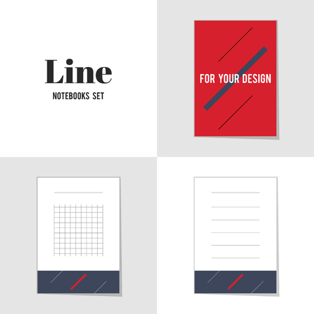 for text: Collection Diagonal Line for Your Design notebooks, stickers, labels, tags. Template for scrapbooking, wrapping, notebooks