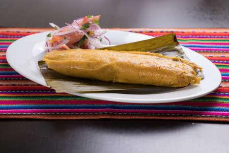 Cuisine péruvienne: tamal, tamales Banque d'images