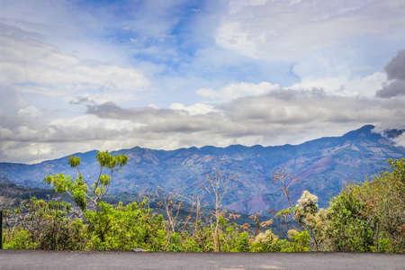 Landscape blue sky costa rica clouds Foto de archivo - 102216944