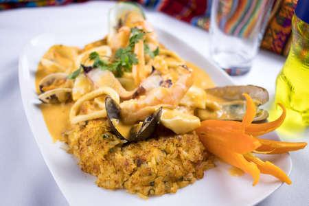Peruvian food: arroz con mariscos