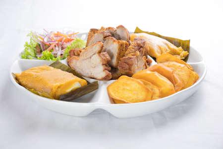 Peruvian food: tamal, tamales Foto de archivo - 102216953
