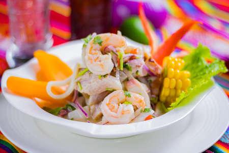 Peruvian food: Fish ceviche Foto de archivo - 102216959