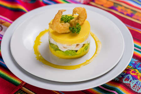 Peruvian food: Causa, comida peruana