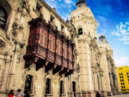 palacio arzobispal de lima, plaza de armas, lima peru