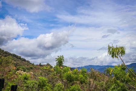 landscape blue sky costa rica clouds Foto de archivo - 102217136