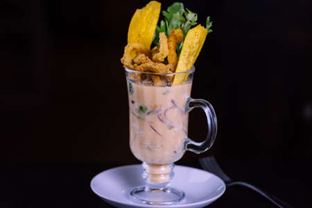 peruvian food: Tiger milk Stok Fotoğraf
