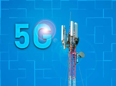 telecommunication tower cellular communication, internet and 5G communication