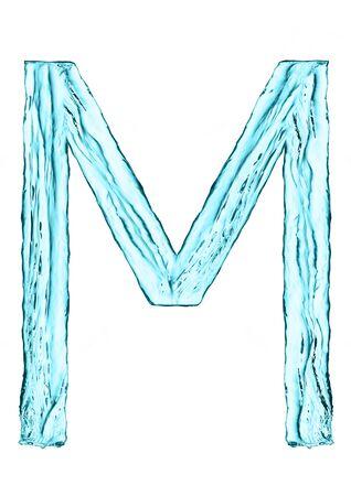Wasserspritzen Buchstaben D Mit Hellblauer Farbe Auf Weißem ...