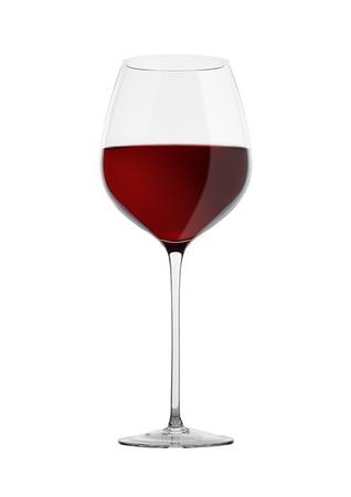 4da8cdd0f2508c  88792591 - Glas rode wijn geïsoleerd op een witte achtergrond