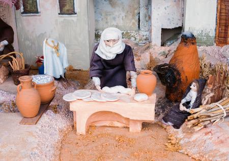 LONDON, UK - AUGUST 31, 2018: St. Easter eve Aida Raimondos Peceliuniene unique exhibition.A Walk Through the miracle waiting Jerusalem. Easter morning scene.