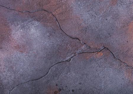 Rusty blue purple cement concrete stone texture background. Top view