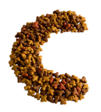 cat alphabet: From a dry feed for cats it is possible to spread figures