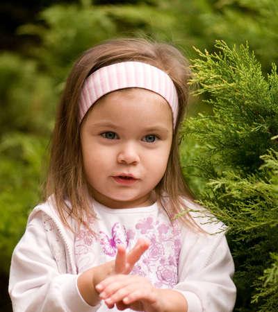 Portrait of little beautiful girl wearing headband Stock Photo - 5675937