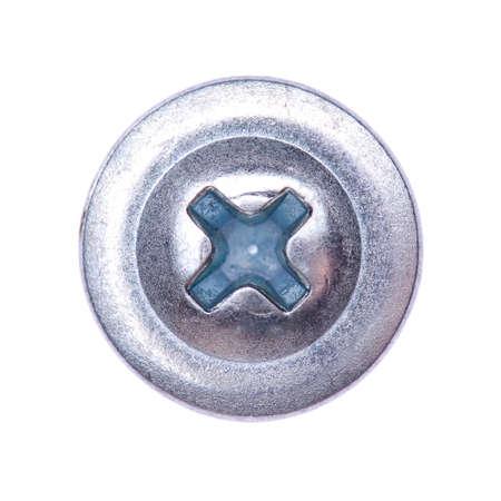 The screw head on white background photo