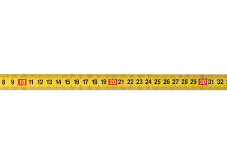 measurement tape: Opened tape measure on white isolated background