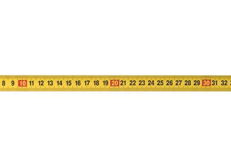 milimetr: Otwarty środek taśmy na białym tle izolowane