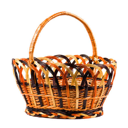 Traditional wicker basket isolated on white background Stock Photo - 6741241