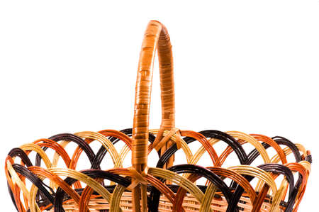 Traditional wicker basket isolated on white background Stock Photo - 7003039