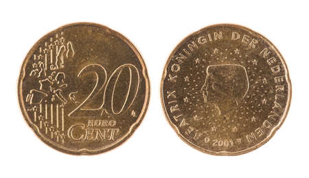 20 cents euro coin Stock Photo - 7095378