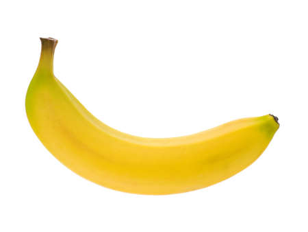 Ripe banana isolated on white background