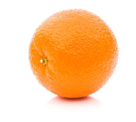 orange slice: Ripe orange isolated on white background
