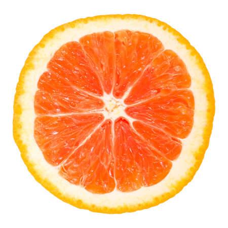 Half of orange isolated on white background photo