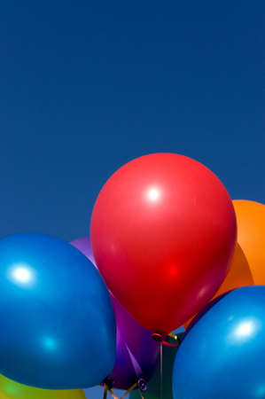 Bunch of colorful balloons in the blue sky Stock Photo - 7790941