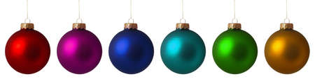 christmas ball isolated: Set Christmas baubles isolated on white background Stock Photo