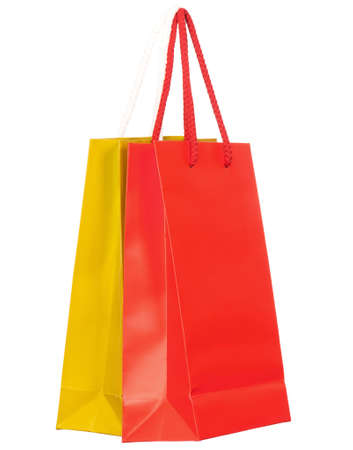 Colorful shopping bags on white background Stock Photo - 8596250