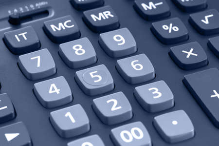 The big black calculator - keypad background close-up photo