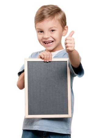 Boy with blackboard Stock Photo - 10274881