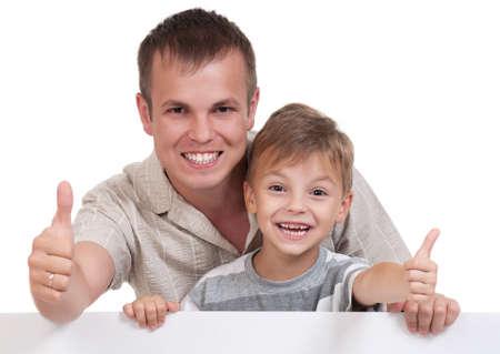Happy dad and son photo