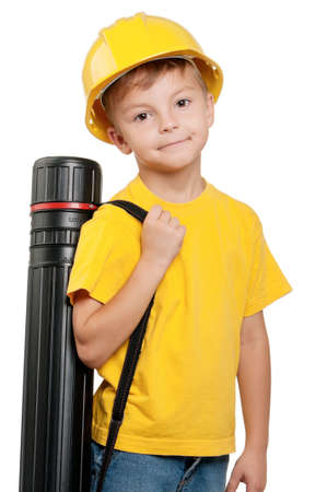 inspector kid: Portrait of boy Stock Photo