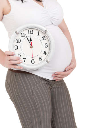 Pregnant belly clock photo