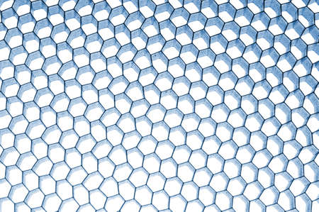 mesh structure: Abstract blue honeycomb background with light effect Stock Photo