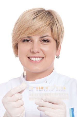 Portrait of female dentist - isolated over a white background Stock Photo - 10562460