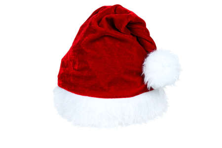 Santa Claus red hat isolated on white background photo