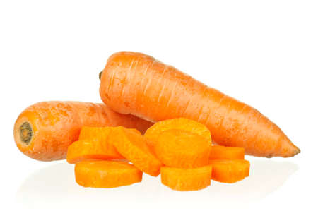 Fresh young carrot isolated over a white background photo