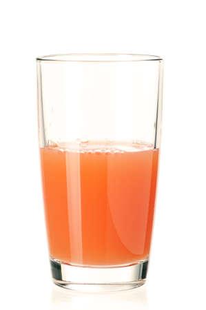 Glass of fresh grapefruit juice on white background Stock Photo - 12075438