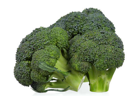Fresh ripe broccoli piece on white background Stock Photo - 12075497