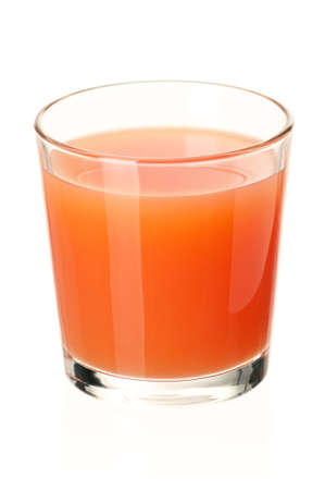 Glass of fresh grapefruit juice on white background Stock Photo - 12562352