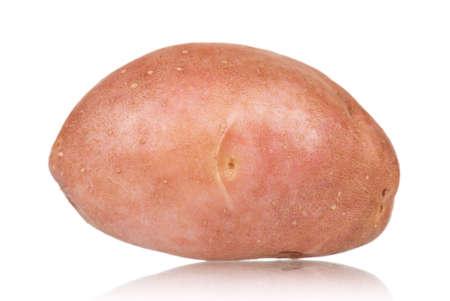 Single large raw potatoes on a white background Stock Photo - 12562322