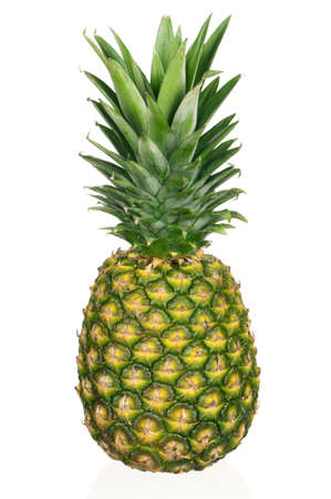 Fresh ripe pineapple isolated on white background