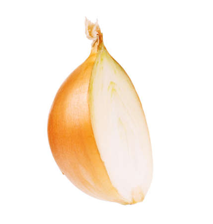 cleared: Fresh bulbs of onion not cleared on a white background