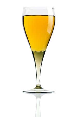Glass of white wine isolated on white background Stock Photo - 12696131
