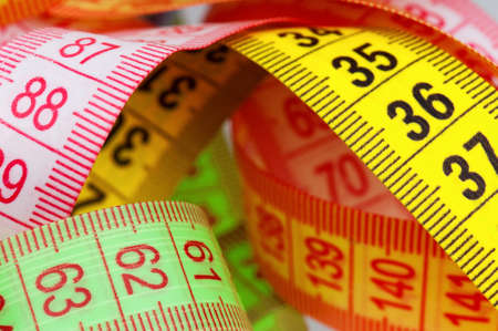 Close up of measuring tape of the tailor Stock Photo - 12833867
